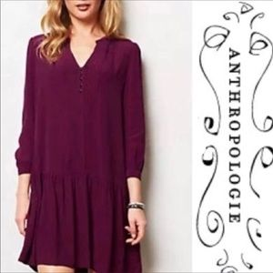 Anthropologie Maeve Galina Dropwaist Dress - Large